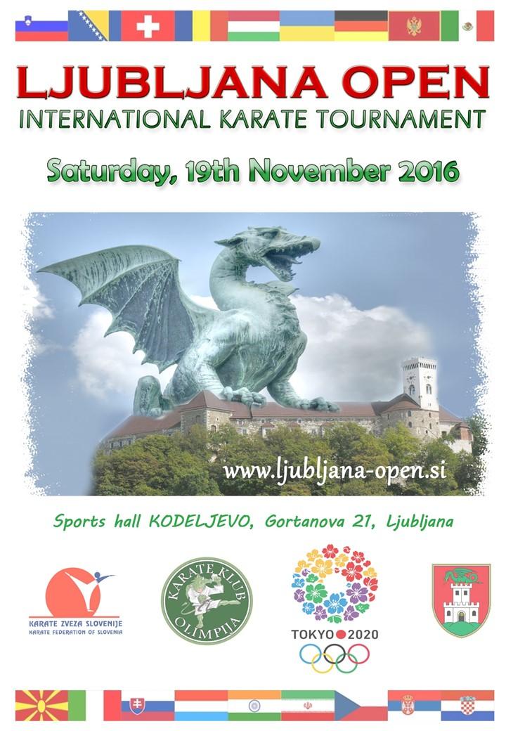 e-Karate.si - LJUBLJANA OPEN 2016 - Organizator : Karate Klub Olimpija Ljubljana