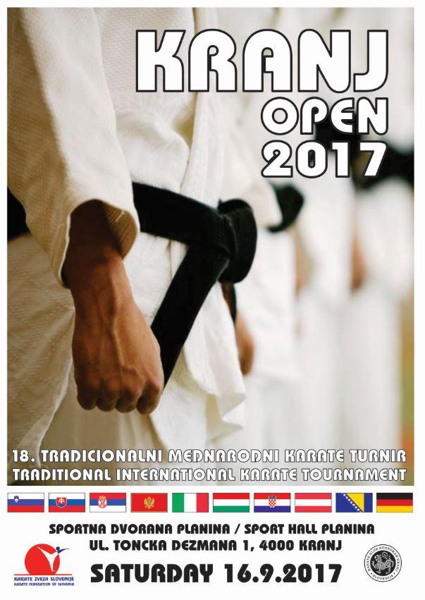 e-Karate.si - KRANJ OPEN 2017 - Organizator : Karate Klub Shotokan Kranj