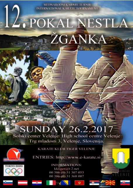 e-Karate.si - 12. POKAL NESTL ŽGANK - Organizator : Karate Klub Tiger Velenje