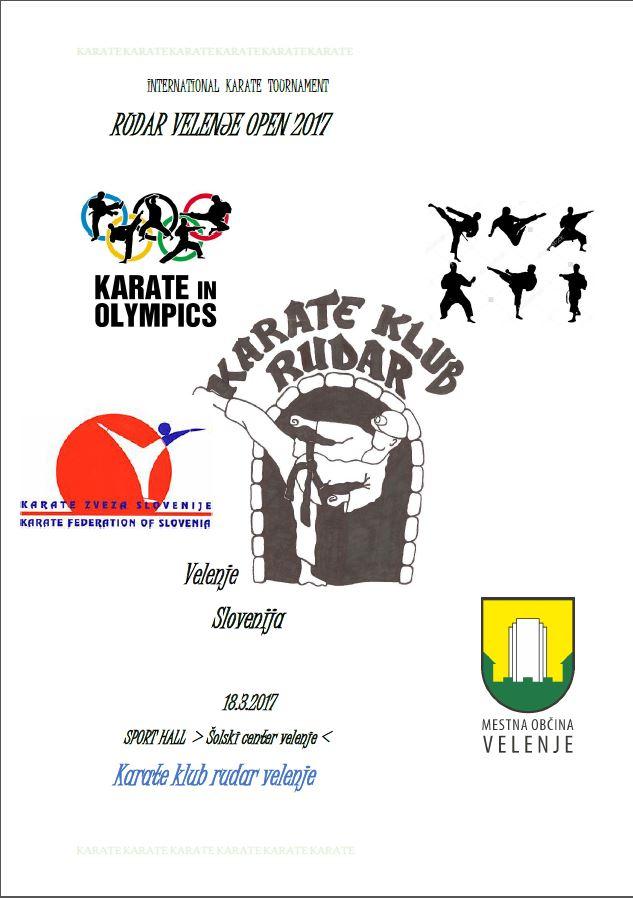 e-Karate.si - RUDAR VELENJE OPEN 2017 - Organizator : Karate Klub Rudar Velenje