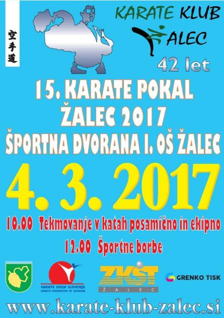 e-Karate.si - 15. KARATE CUP ŽALEC 2017 - Organizator : Karate Klub Žalec