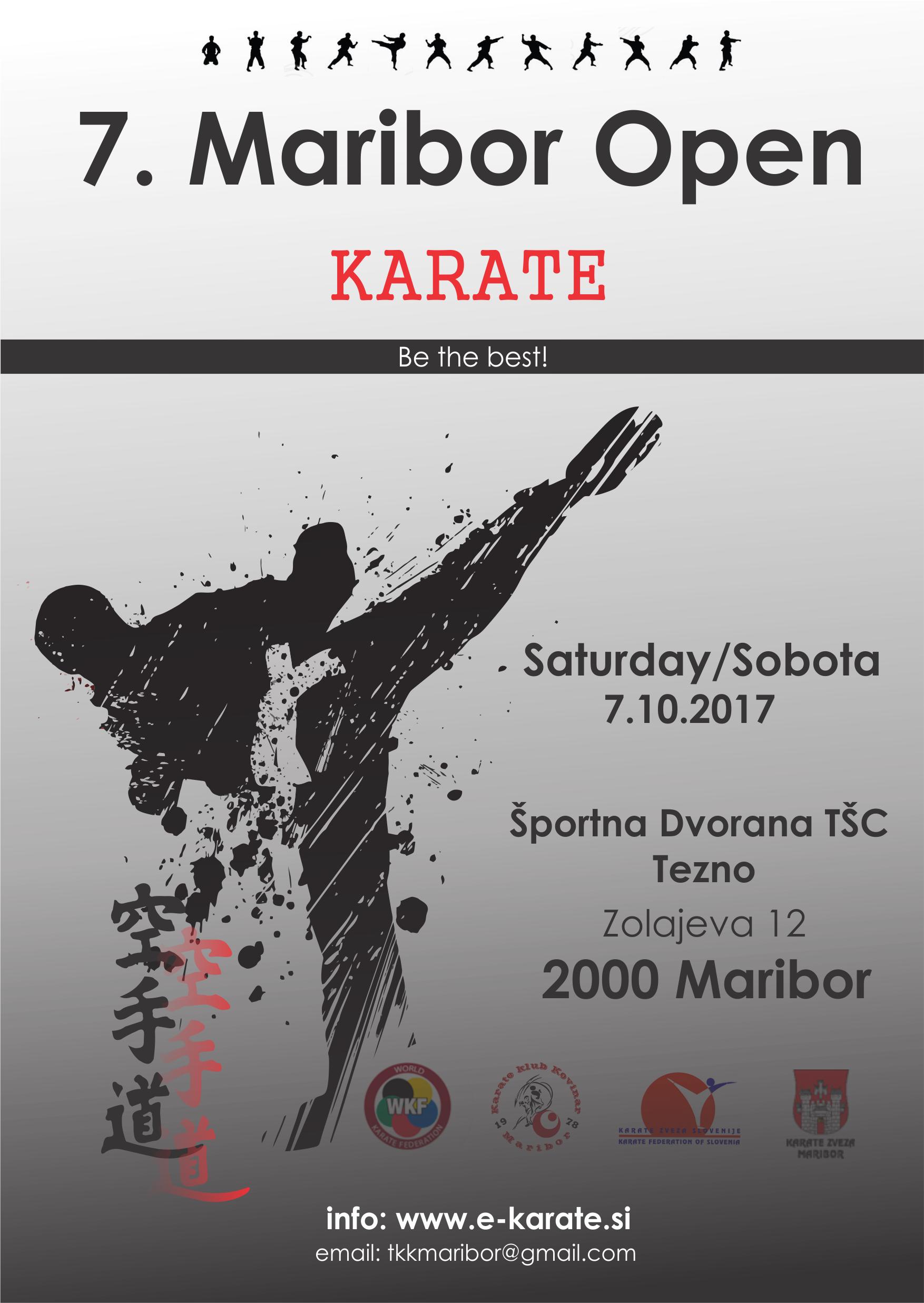 e-Karate.si - MARIBOR OPEN 2017 - Organizator : Karate Klub Kovinar Maribor