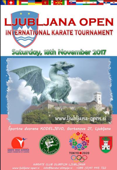 e-Karate.si - LJUBLJANA OPEN 2017 - Organizator : Karate Klub Olimpija Ljubljana