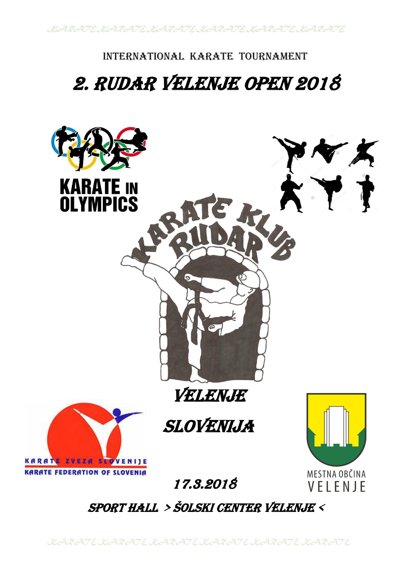 e-Karate.si - RUDAR VELENJE OPEN 2018 - Organizator : Karate Klub Rudar Velenje