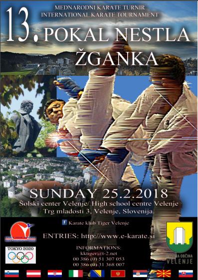 e-Karate.si - 13. POKAL NESTL ŽGANK - Organizator : Karate Klub Tiger Velenje