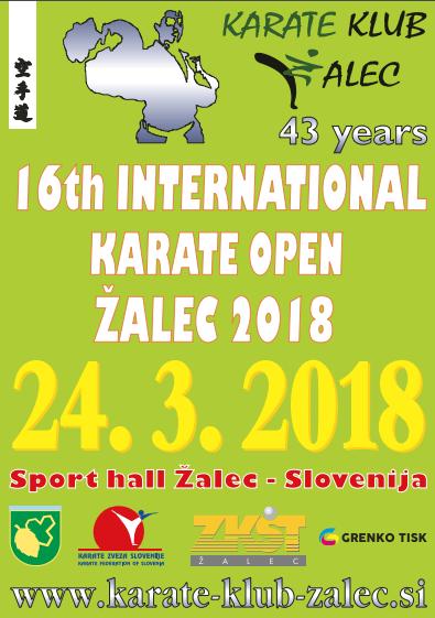 e-Karate.si - 15. KARATE CUP ŽALEC 2018 - Organizator : Karate Klub Žalec