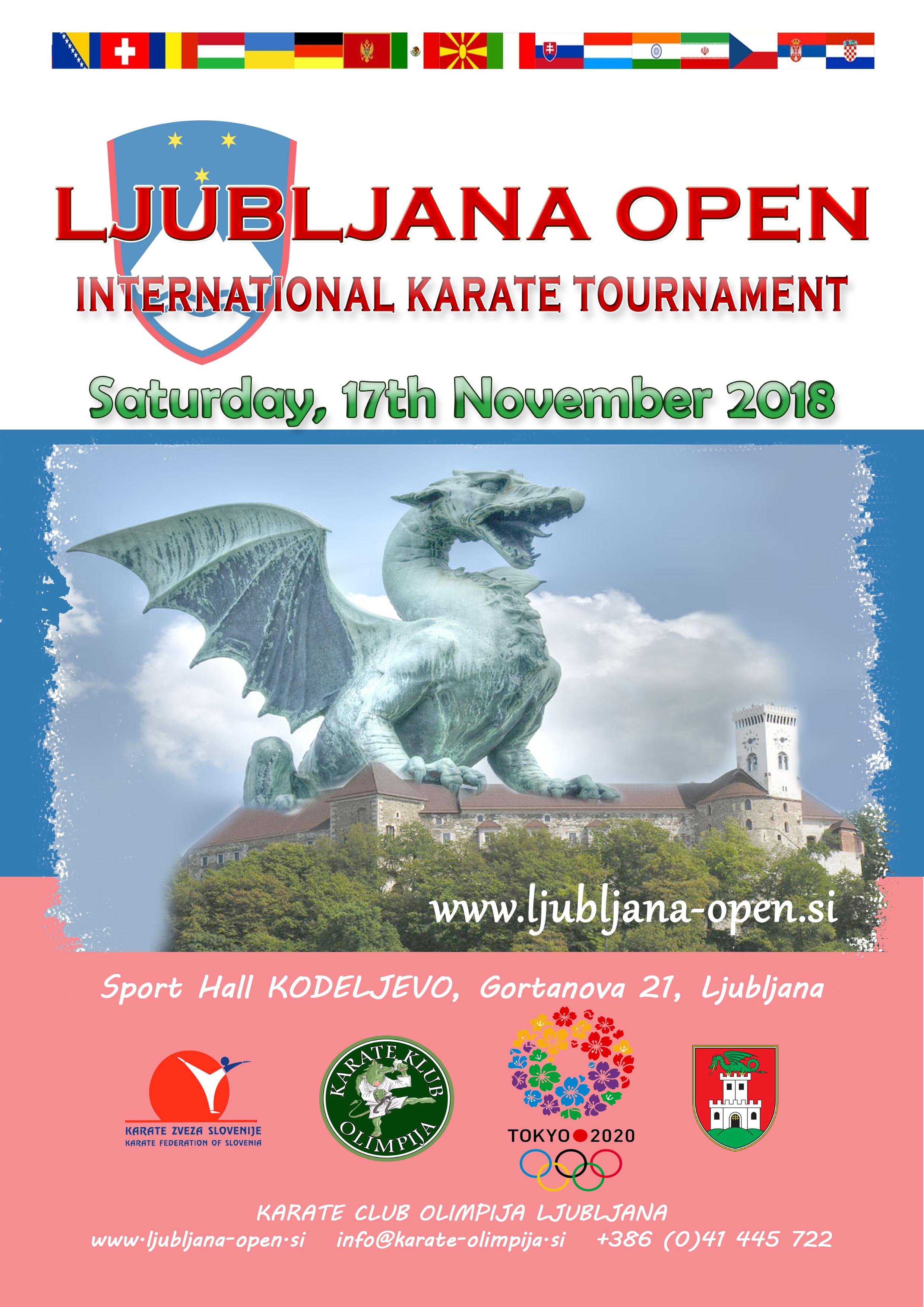 e-Karate.si - LJUBLJANA OPEN 2018 - Organizator : Karate Klub Olimpija Ljubljana