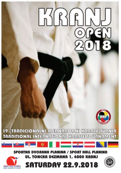 e-Karate.si - KRANJ OPEN 2018 - Organizator : Karate Klub Shotokan Kranj