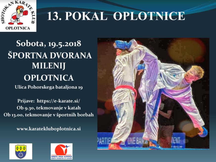 e-Karate.si - 13. POKAL OBČINE OPLOTNICA - Organizator : Shotokan Karate Klub Oplotnica